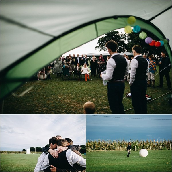 English cricket club wedding an outdoor ceremony and speeches by Hannah Hall Photography