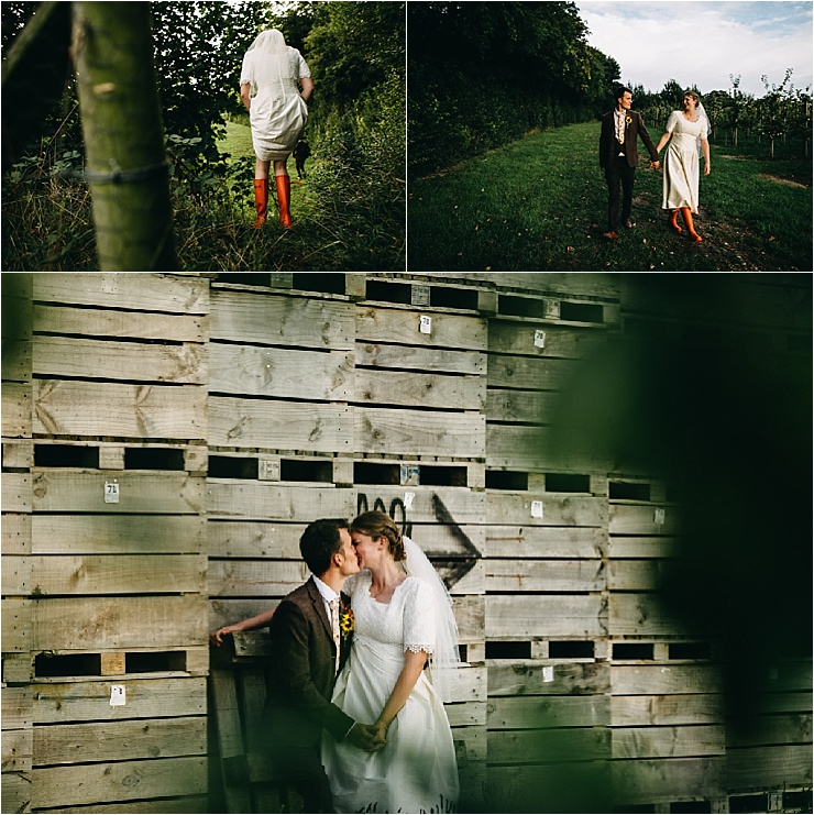 The bride and groom explore the grounds around the cricket club by Hannah Hall Photography
