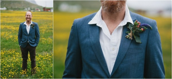 Details of the groom for his elopement in Lofoten Norway by Thomas Stewart