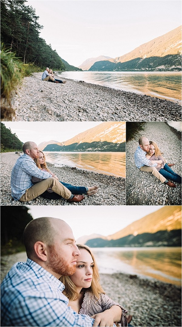 Engagement shoot inspiration for nature loving couples, a lakeside engagement in Austria by Wild Connections Photography