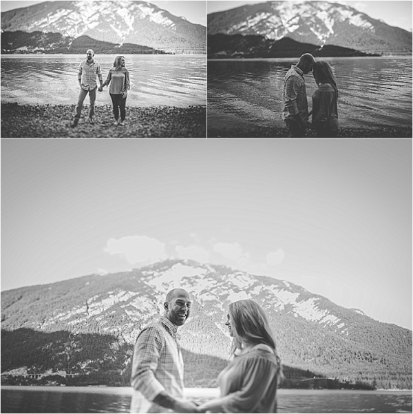 A mountain lake engagement shoot in Austria by Wild Connections Photography