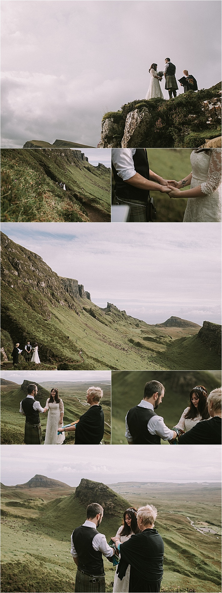 A humanist handfasting ceremony for this Isle of Skye elopement by Maureen Du Preez