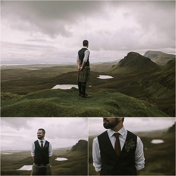 An Isle of Skye Scottish groom in a kilt by Maureen Du Preez