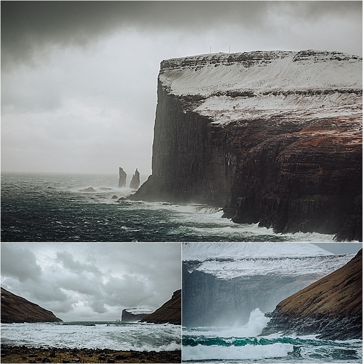 The cliffs around Tjornuvik in the Faroe Islands on We Are The Wanderers