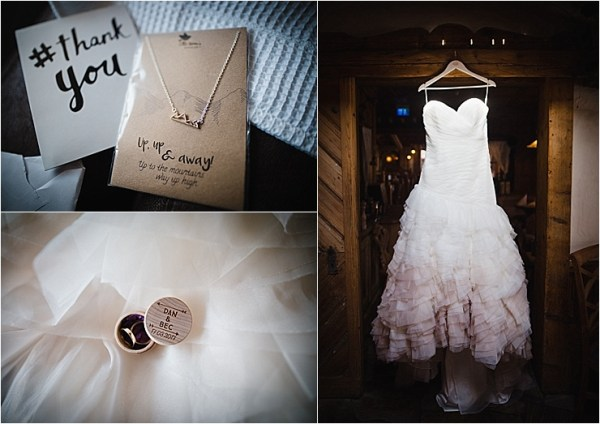 Details for a winter ski resort wedding in the mountains by Wild Connections Photography