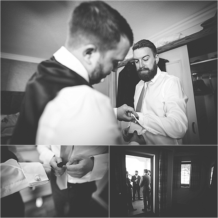 The groom gets ready for his ski wedding in Mayrhofen by Wild Connections Photography