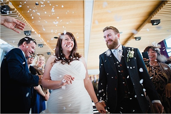 Confetti welcome for Bec and Dan by Wild Connections Photography