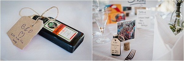 Jagermeister wedding guest favours by Wild Connections Photography
