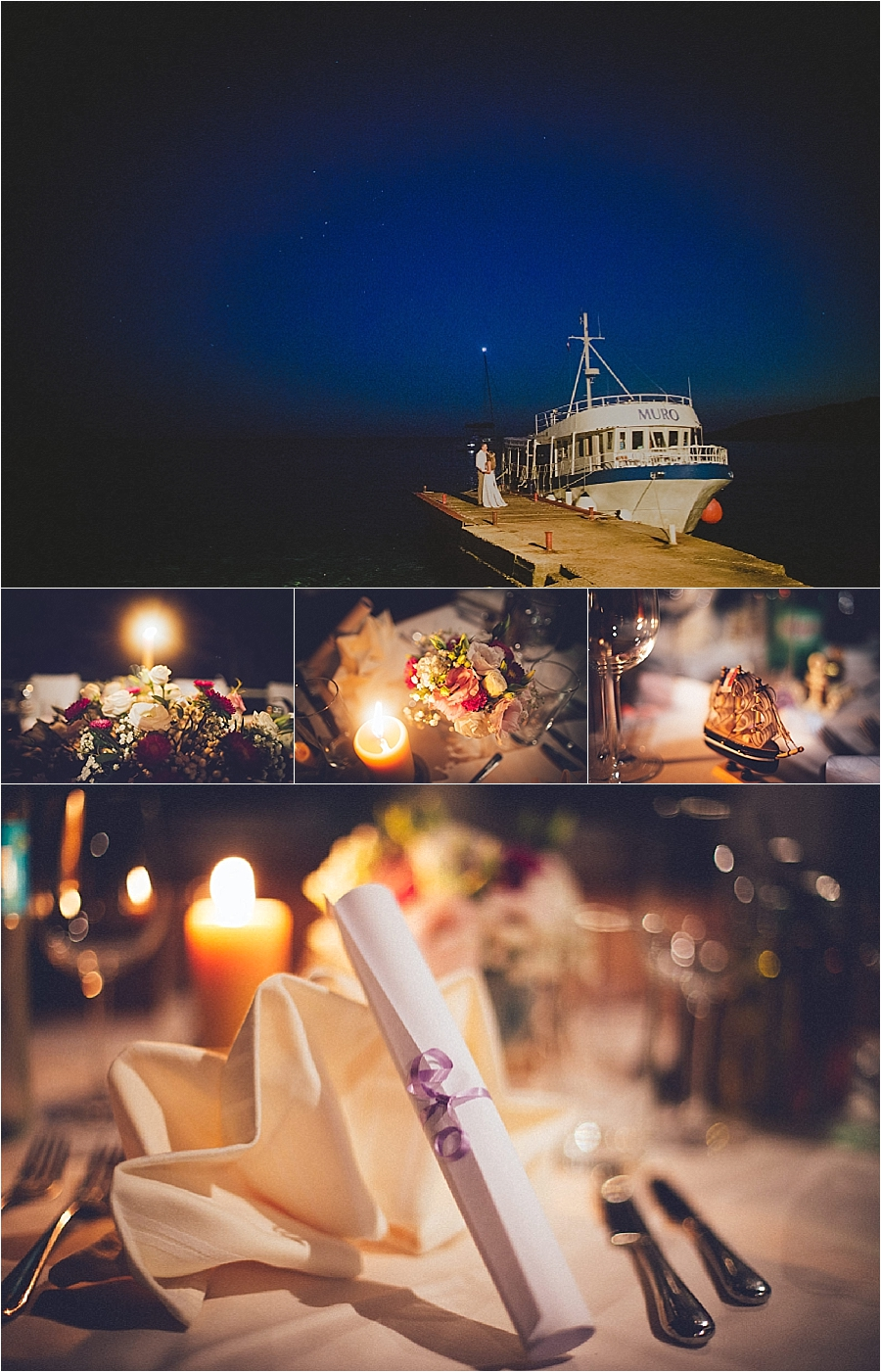 A wedding reception on a boat in Croatia by Matija Kljunak Weddings