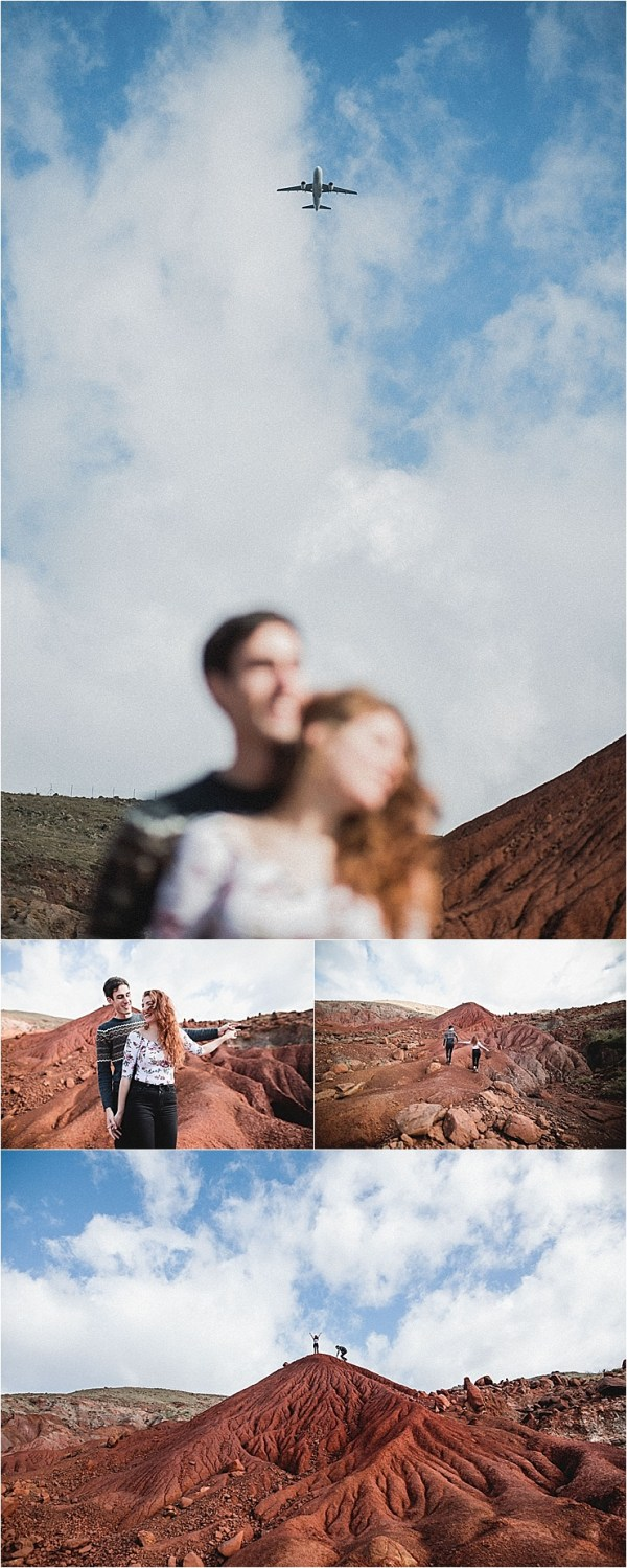 Couple on red lava rock formations in Madeira by Konstanz-Fotograf