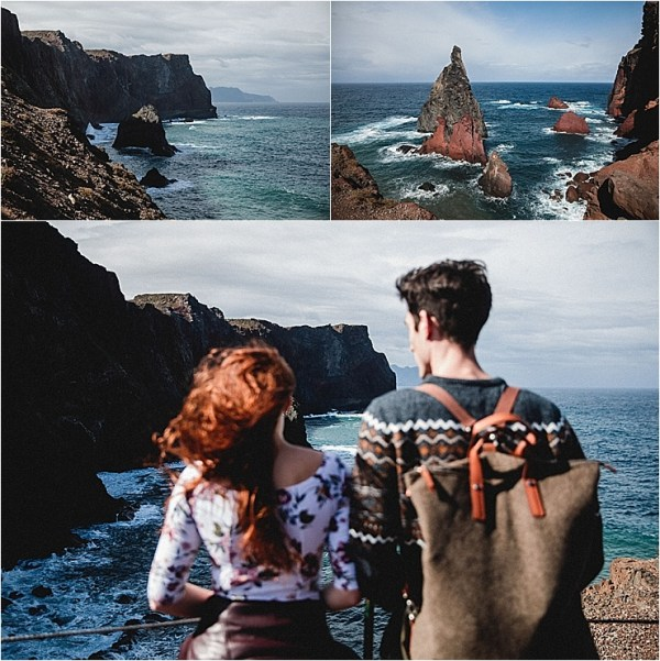 A couple enjoys the stunning cliff views in Madeira by Konstanz-Fotograf
