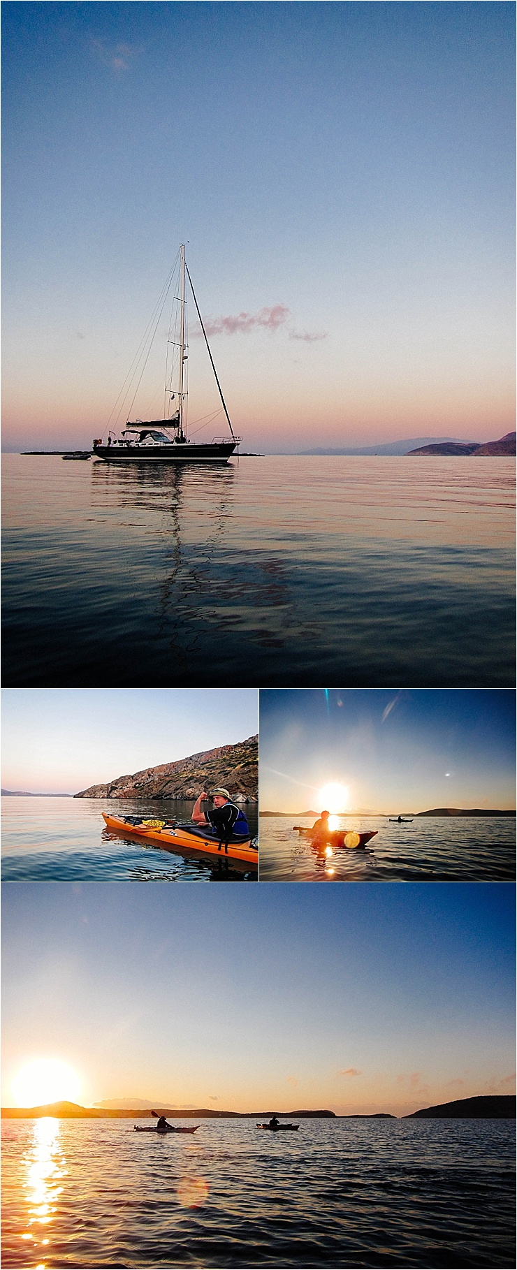 Sea kayaking at sunset in Greece by Mister Pretty's Pictures