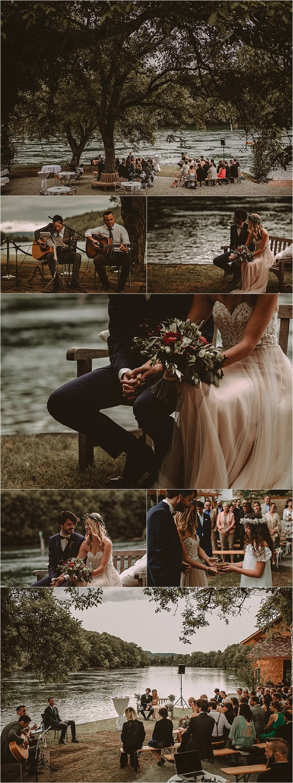 An outdoor ceremony at Gasthaus Schupfen on the river Rhine in Switzerland by Bring Me Somewhere Nice