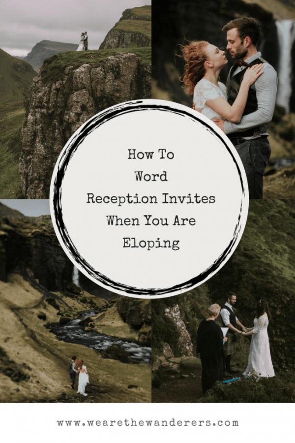 How To Word Reception Invites When You Are Eloping