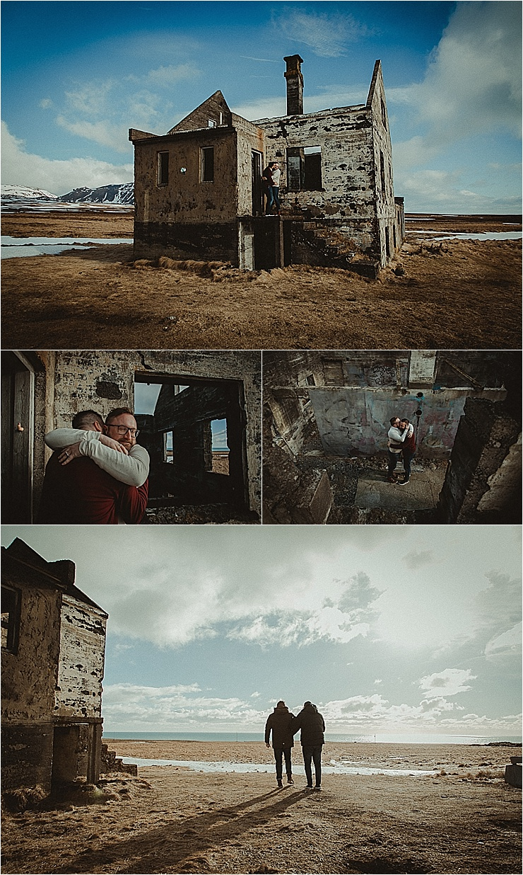 A deserted farmhouse for a Snaefellsnes Peninsula Iceland engagement session by Zakas Photography