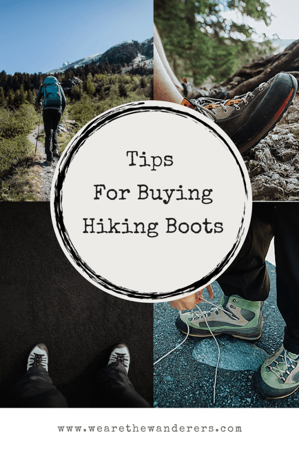 Tips for buying hiking boots on We Are The Wanderers adventure wedding blog