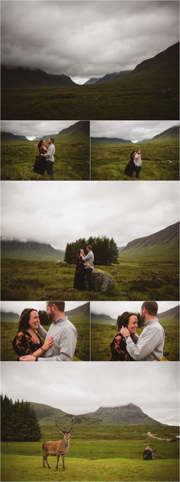 Surprise Proposal in Glen Elvit Scotland by Bridle Photography