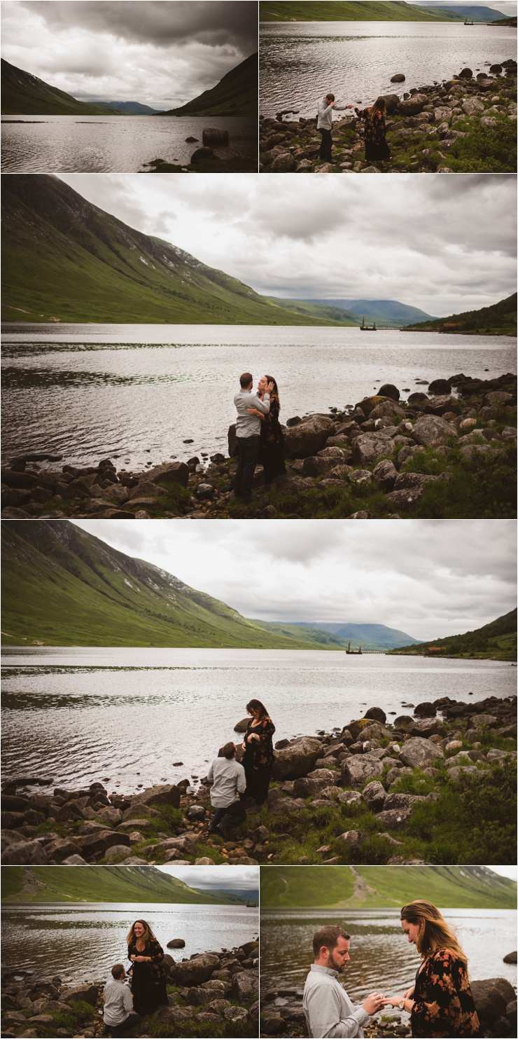 Glen Etive Surprise Proposal in Scotland by Bridle Photography