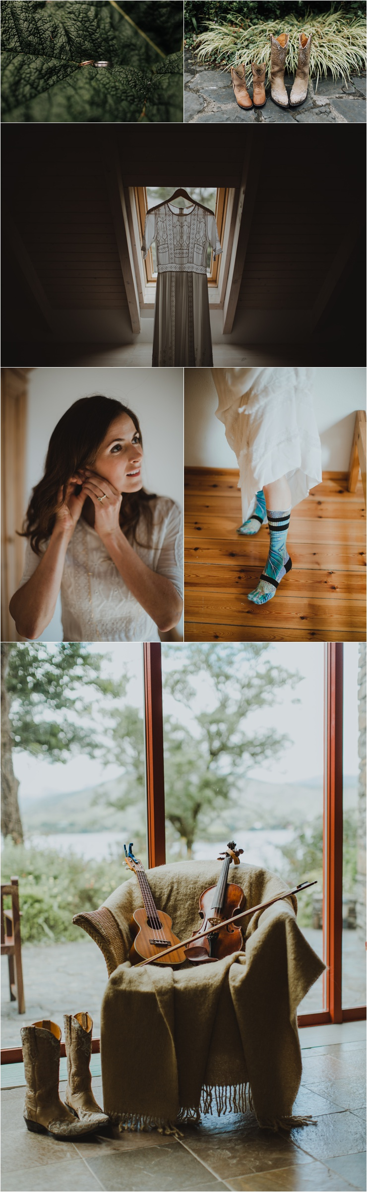 Bridal prep in a private house in Glengarriff in West Cork Ireland by Paula O'Hara Photography