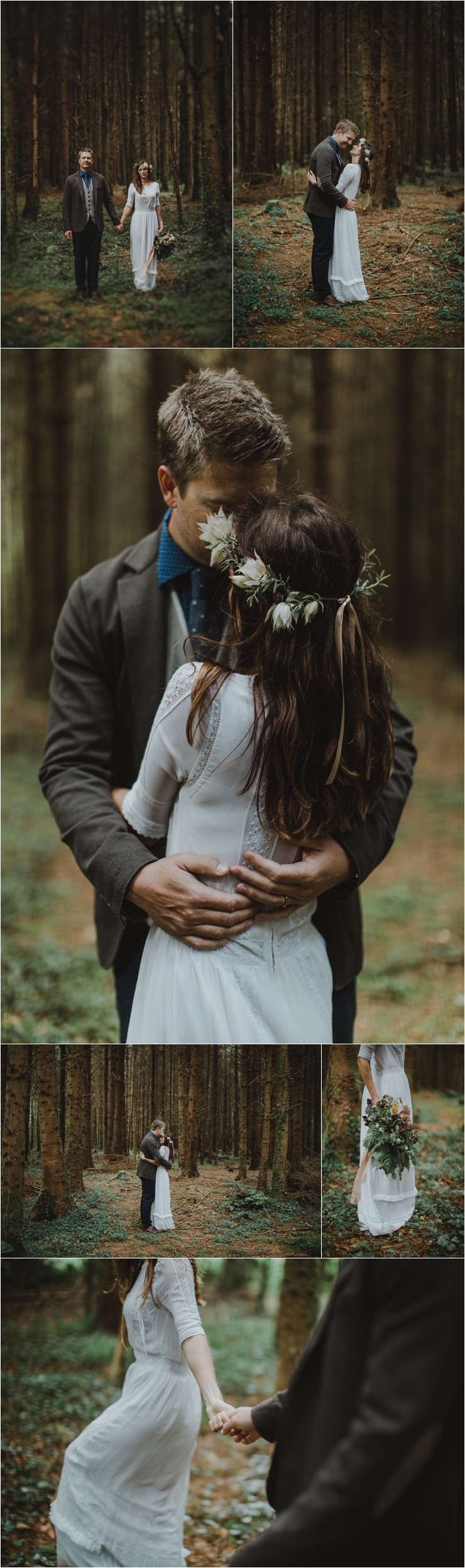A wild forest elopement in Glengarriff in West Cork by Paula O'Hara Photography