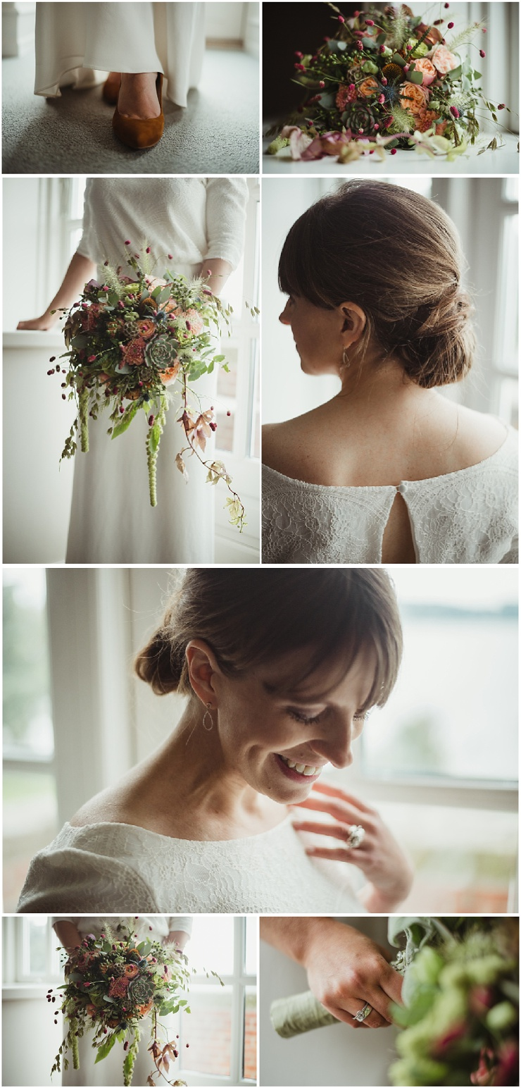 Waterfront Wedding in Denmark by Lauren McCormick Photography The bride in her elegant Josefine Ingversen wedding dress