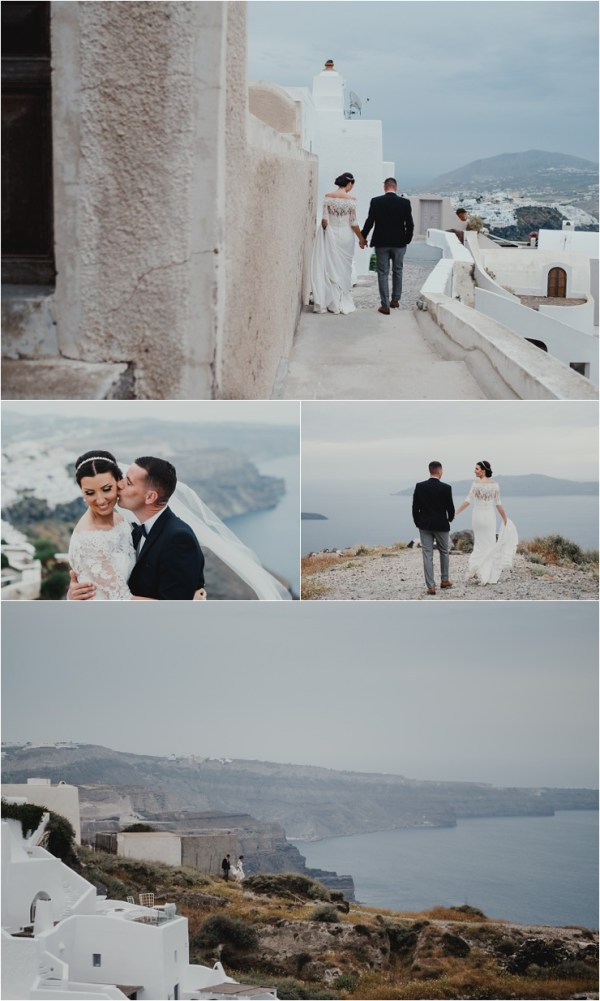 Wedding portraits in Santorini by Tara Lilly Photography
