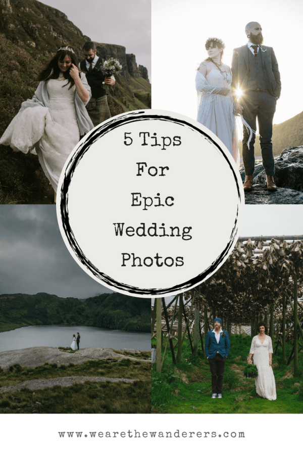 5 Tips For Epic Wedding Photos Graphic