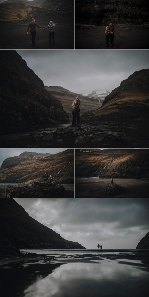 Moody & romantic couple shoot in the Faroe Islands by Barefoot + Bearded Photography