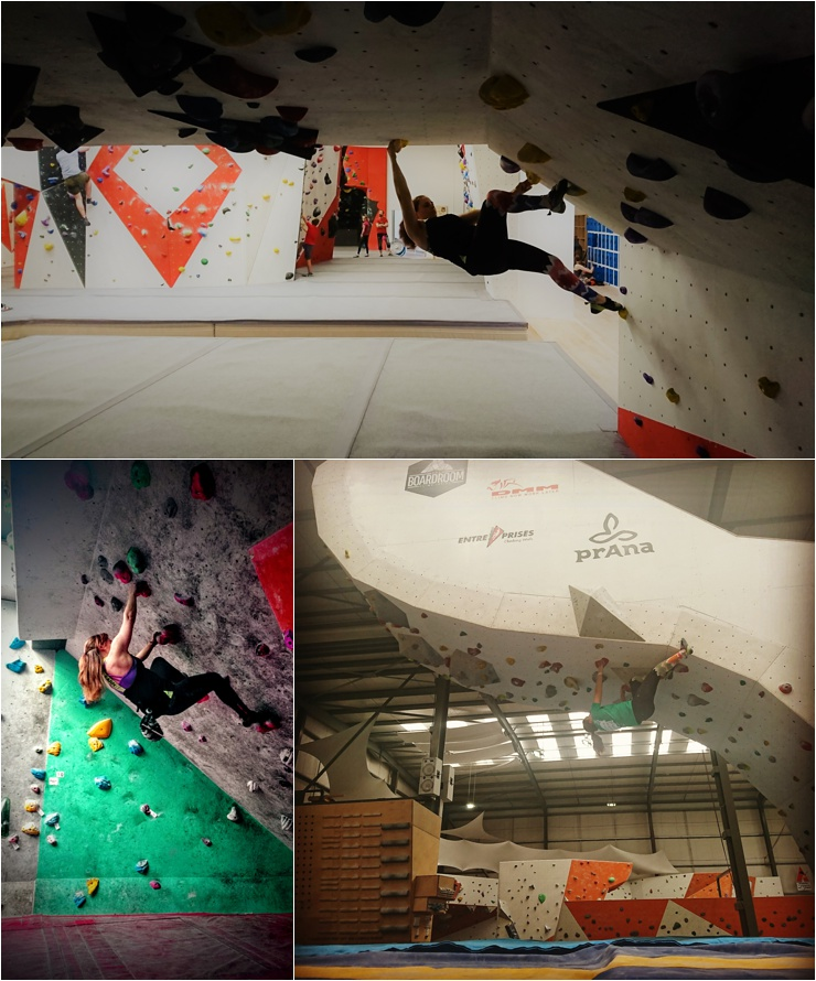 Indoor bouldering by Georgina Jackson