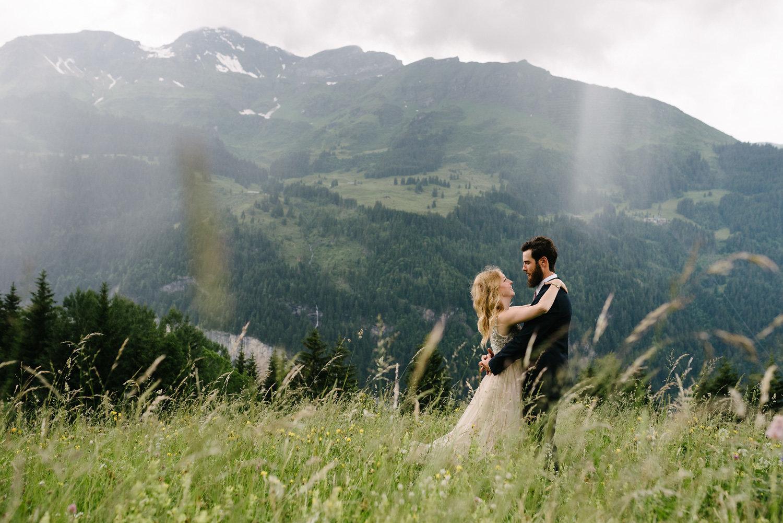 Honeymoon Shoot In Wengen, A Honeymoon Shoot In Wengen in the Swiss Alps