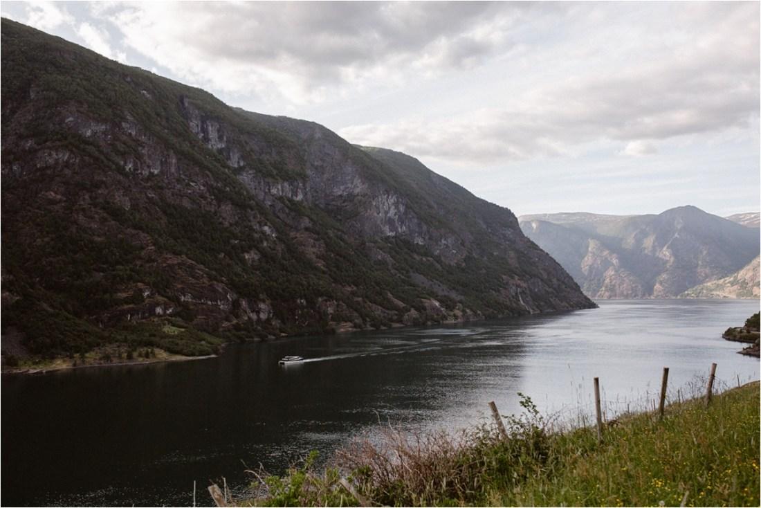 Aurland Fjord in Norway by Ingvild Kolnes
