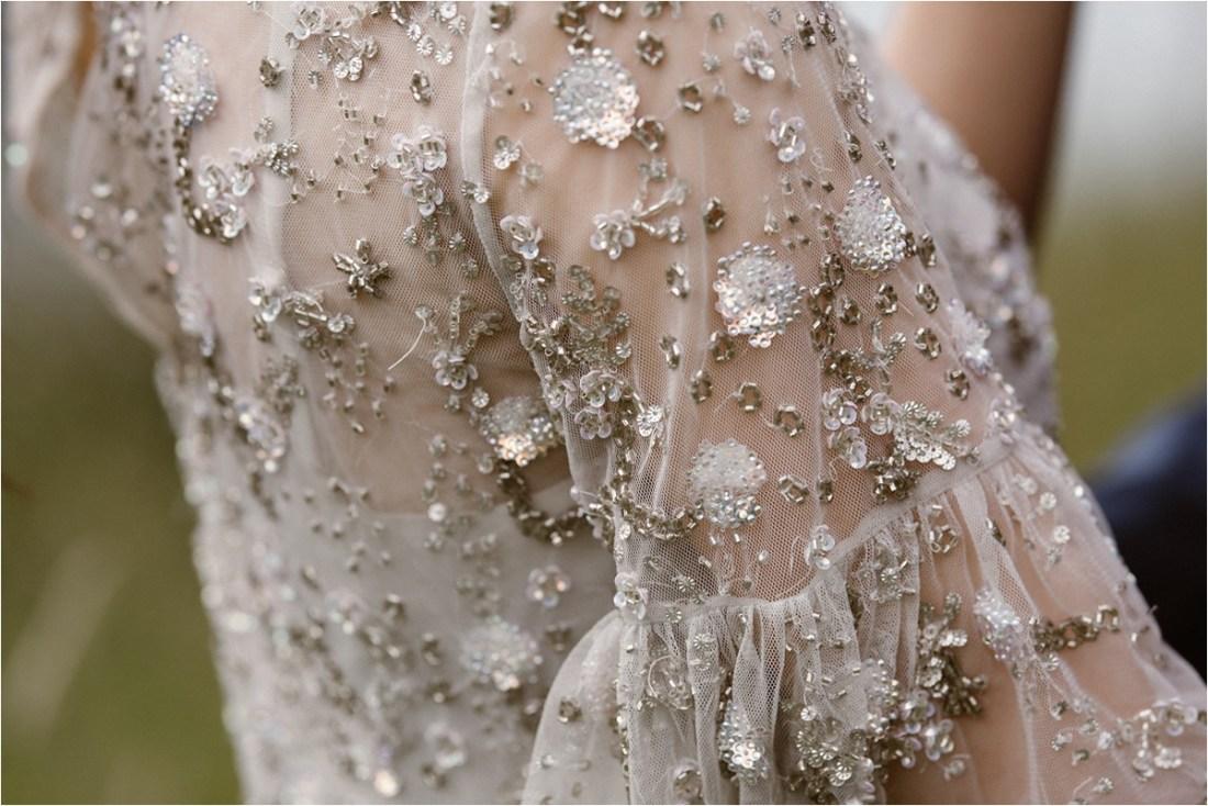 Needle & Thread elopement dress in Norway by Ingvild Kolnes