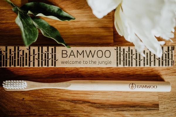 Bamwoo Bamboo Toothbrush - image by Cat Ekkelboom-White