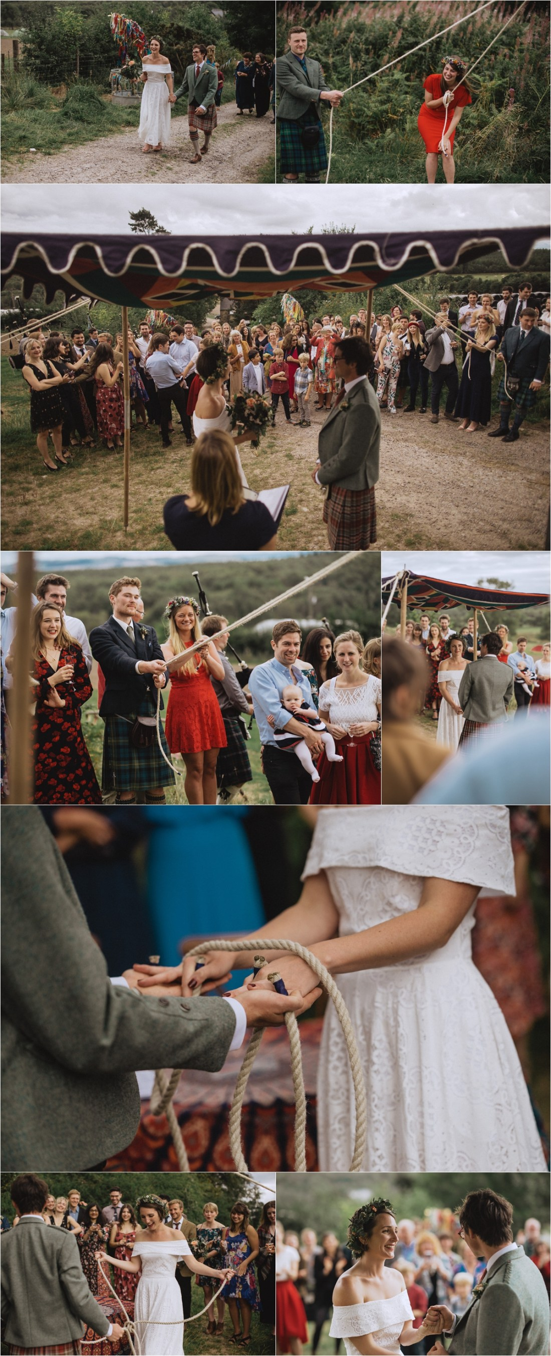 An outdoor humanist ceremony in Scotland on a sheep farm by Fox & Bear Photography