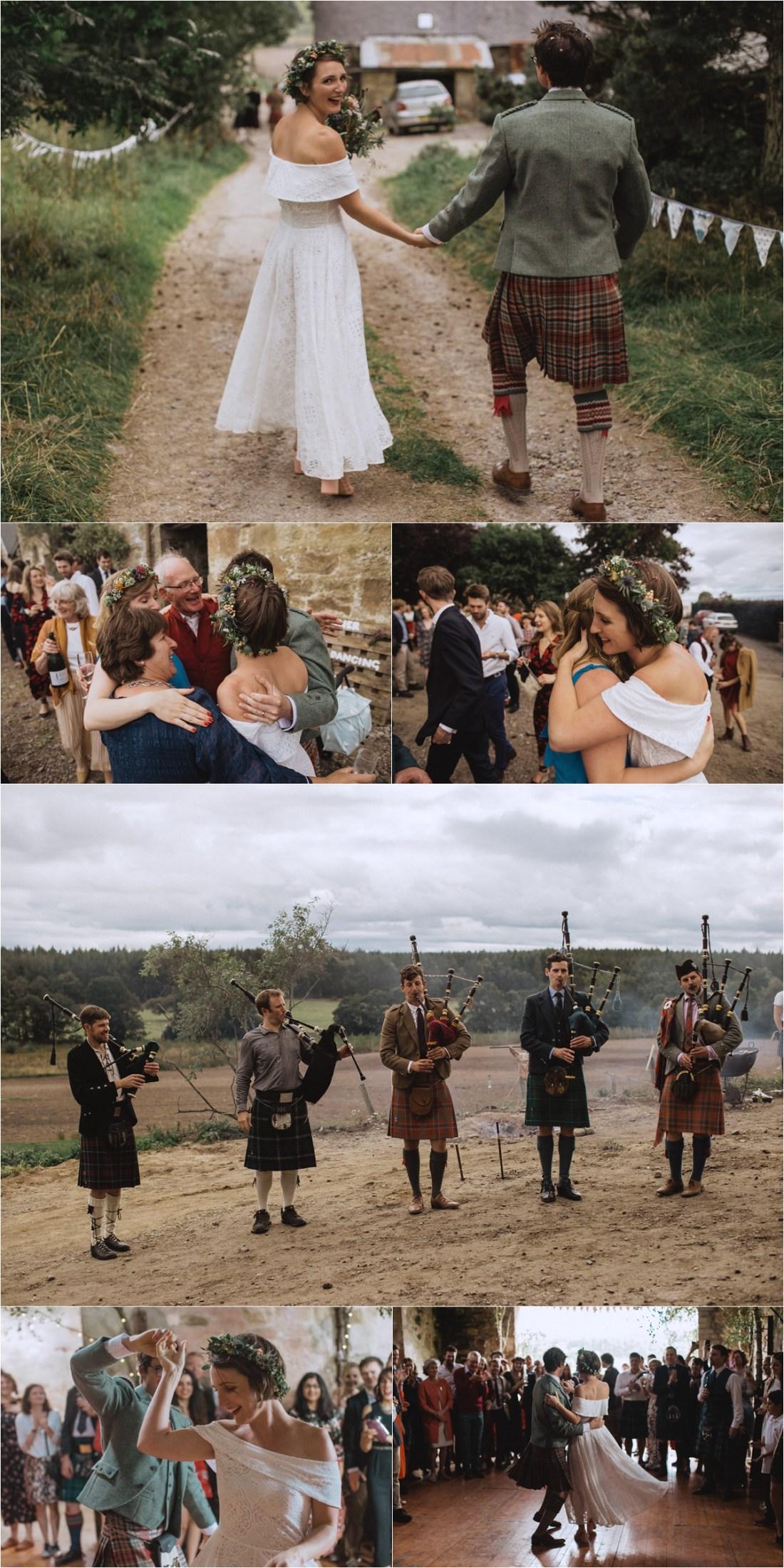 A Scottish sheep farm wedding by Fox & Bear Photography