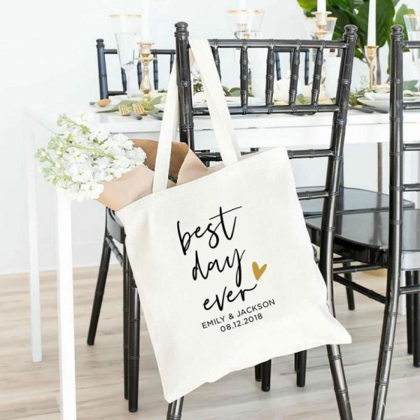 PrintableSky on Etsy Wedding Tote Bag