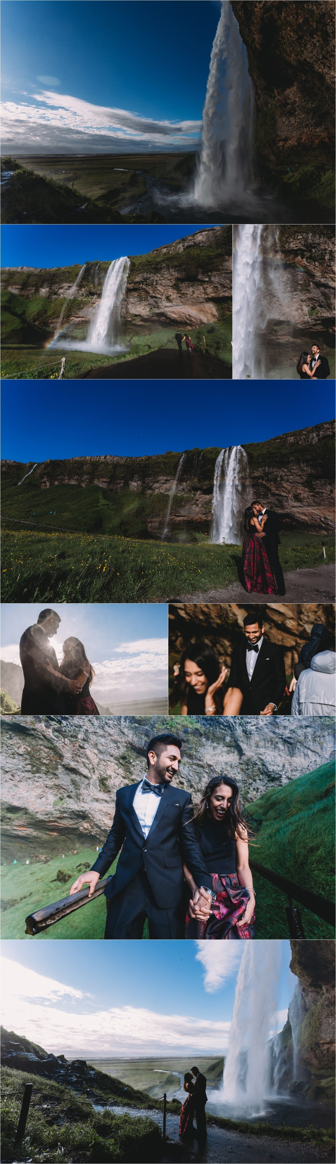 Secret proposal couple shoot at Seljalandsfoss in Iceland by Zakas Photography