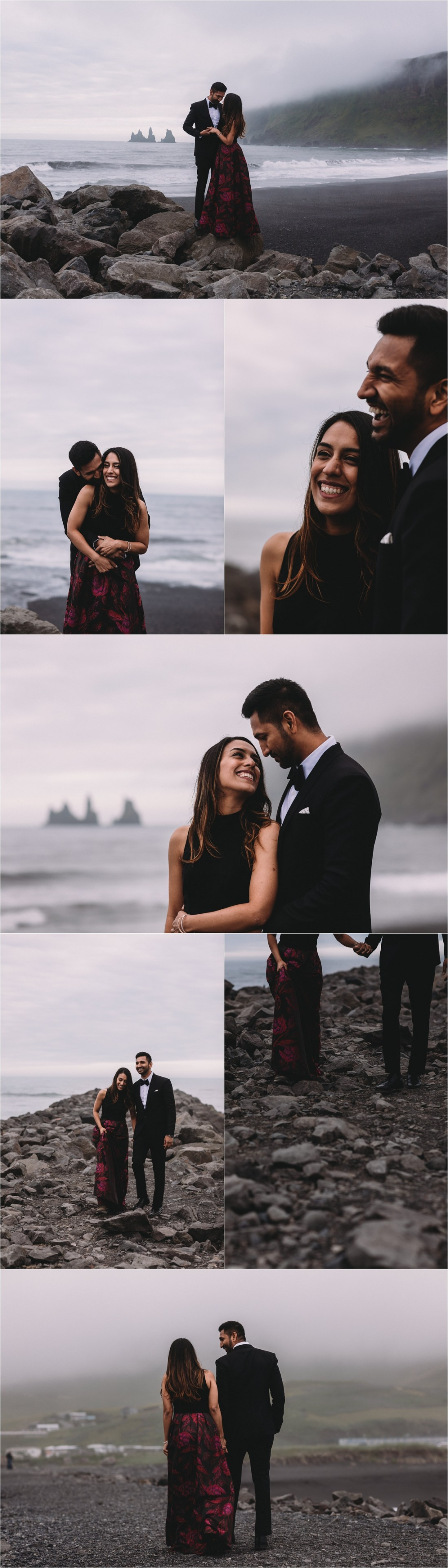 Proposal photoshoot at the black beach in Iceland by Zakas Photography