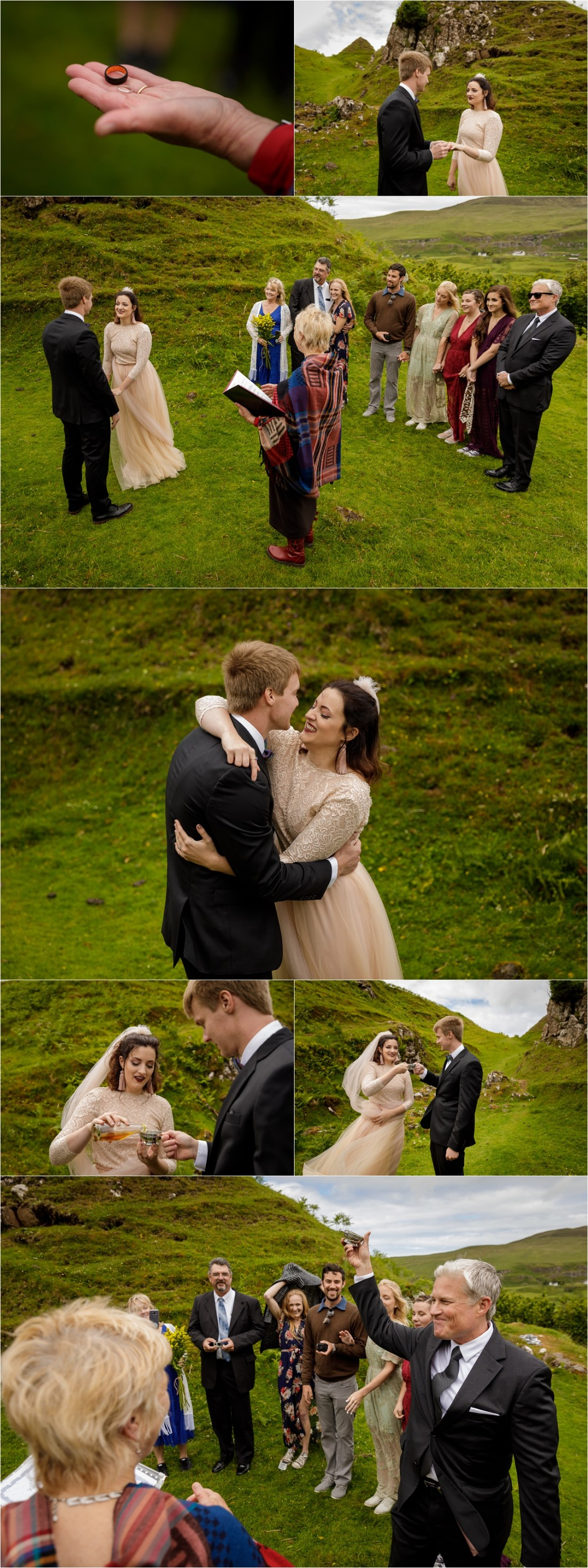 An emotional Isle of Skye intimate wedding ceremony by Lynne Kennedy Photography