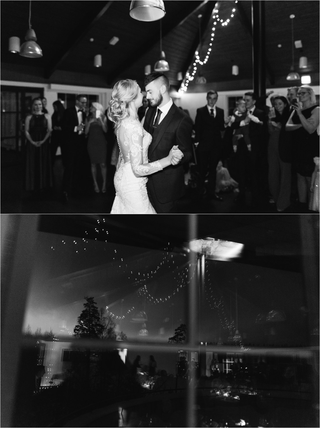 The first dance at their Finland destination wedding by Lucie Watson Photography