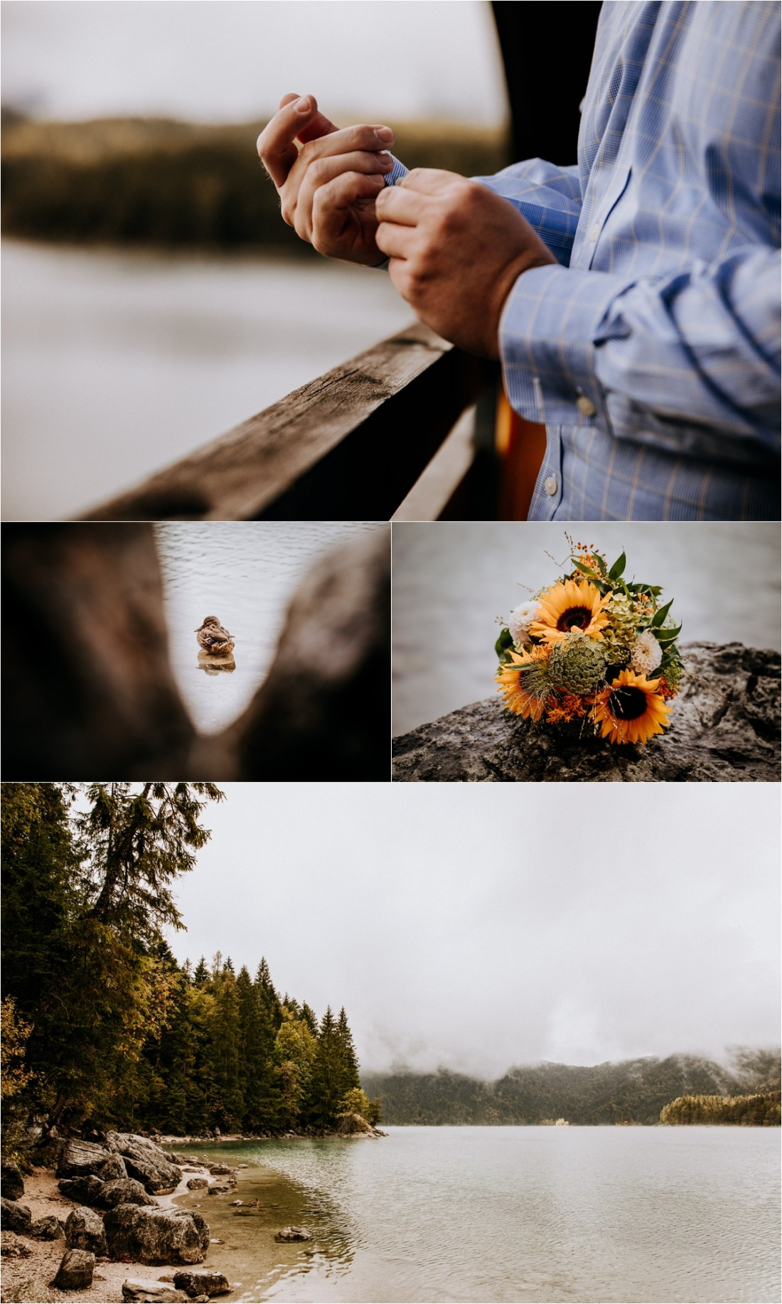 The groom gets ready for his Lakeside elopement in Germany