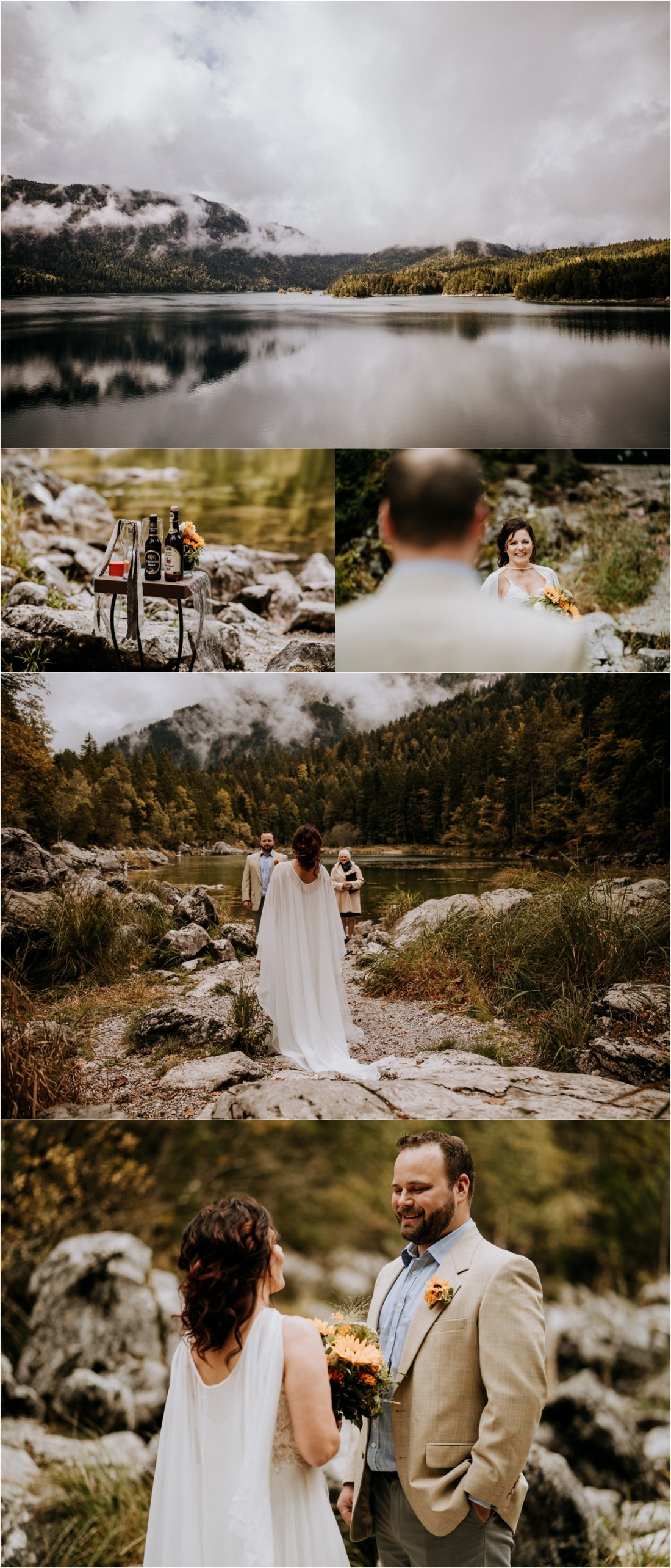 A Lakeside Elopement in the Bavarian Alps by In Love With A Wolf