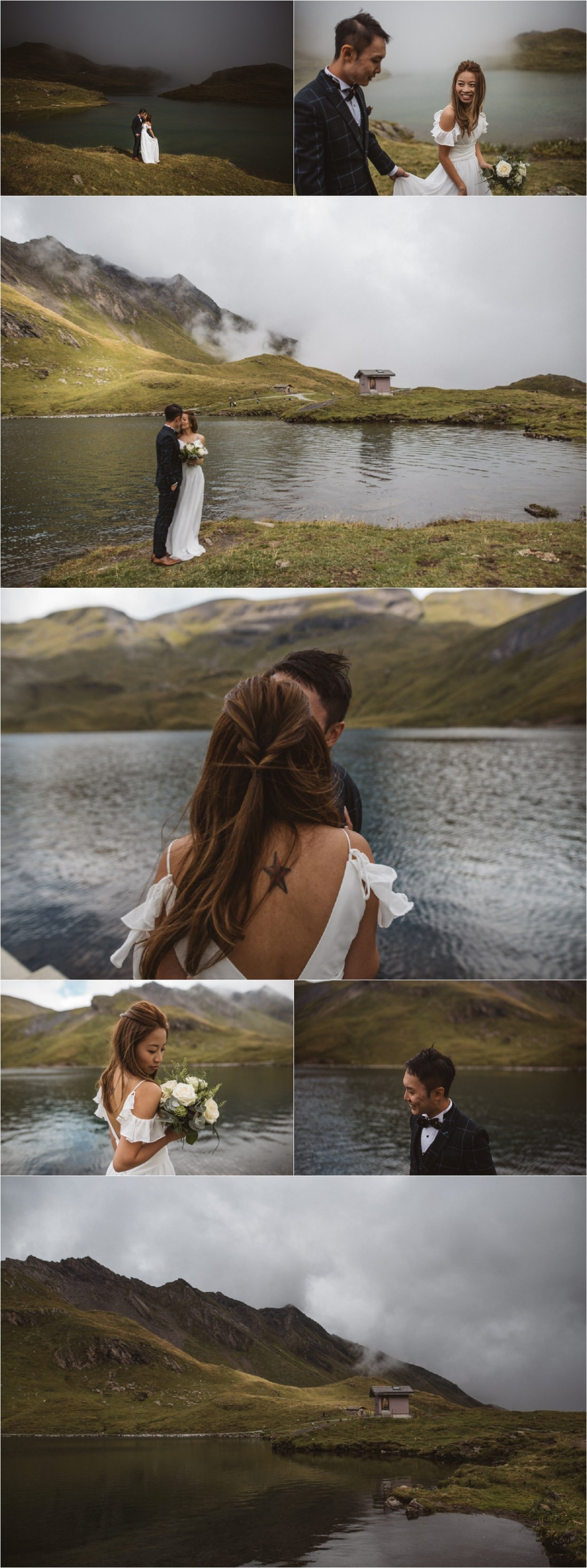 An elopement shoot at a mountain lake in Grindelwald Switzerland by KatjaSimon Photography
