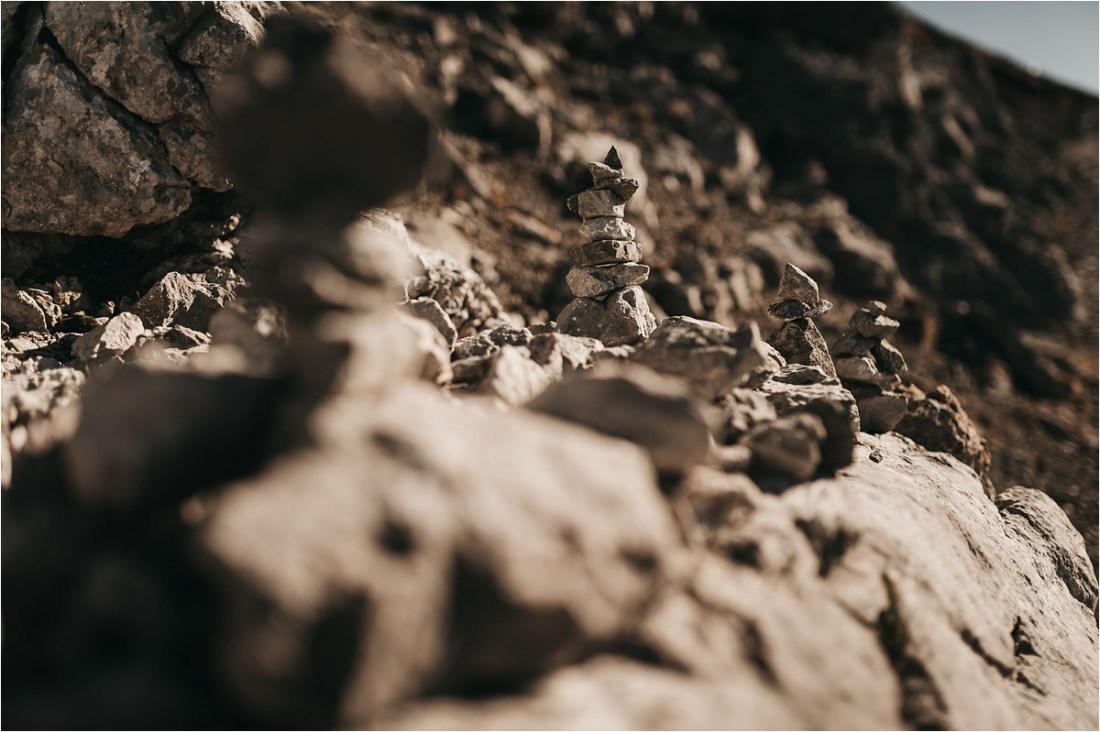 Stacked rocks on a mountain by Aneta Lehotska
