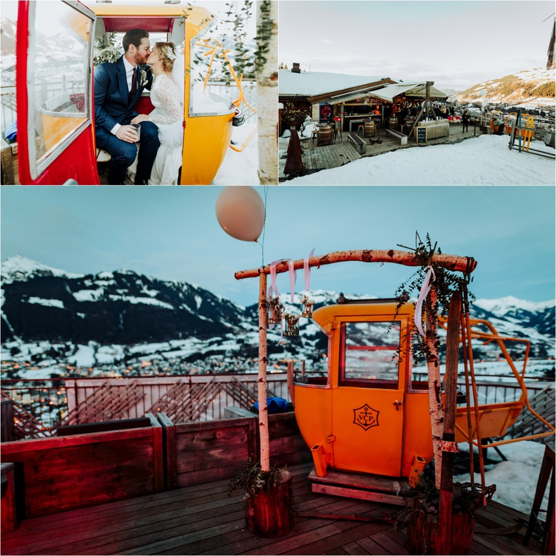 A vintage ski gondola at the Ganslern Alm in Kitzbühel by Wild Connections Photography
