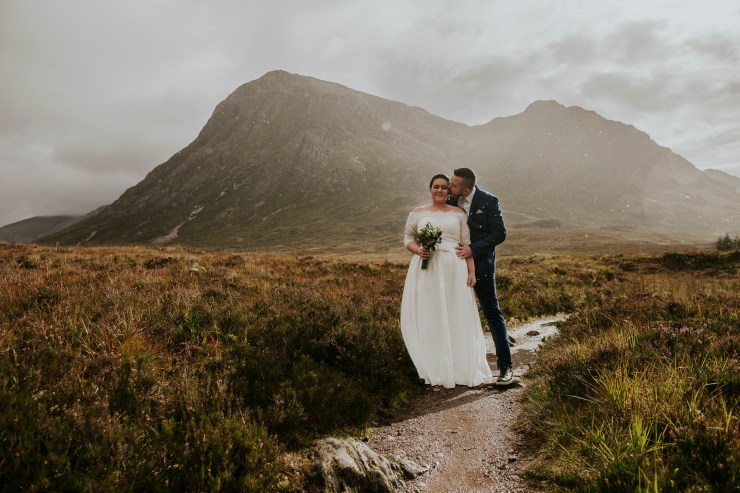Wedding in Scotland with mountains at sunset by Weirdie Grizzly