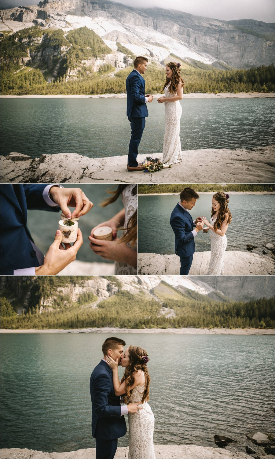 Wooden ring boxes for this elopement in the Swiss Alps by Bendik Photography
