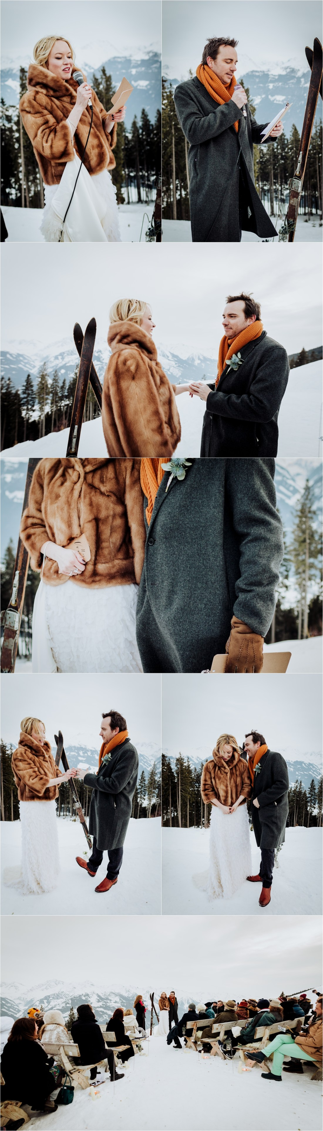A winter mountain wedding ceremony in the Austrian Alps by Wild Connections Photography