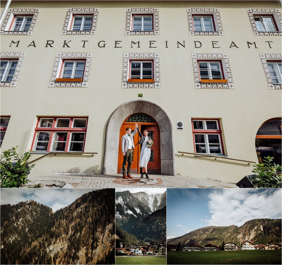Nadja & Frederik leave the Standesamt in Mayrhofen as a married couple by Wild Connections Photography