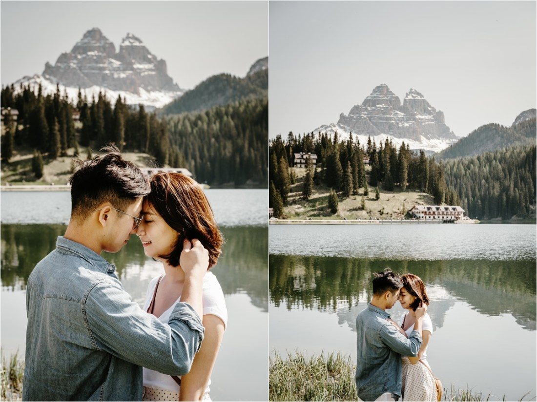 An engagement shoot from a couple from Hong Kong in the Italian Alps by Wild Connections Photography